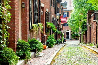 Cobblestone street, Beacon Hill